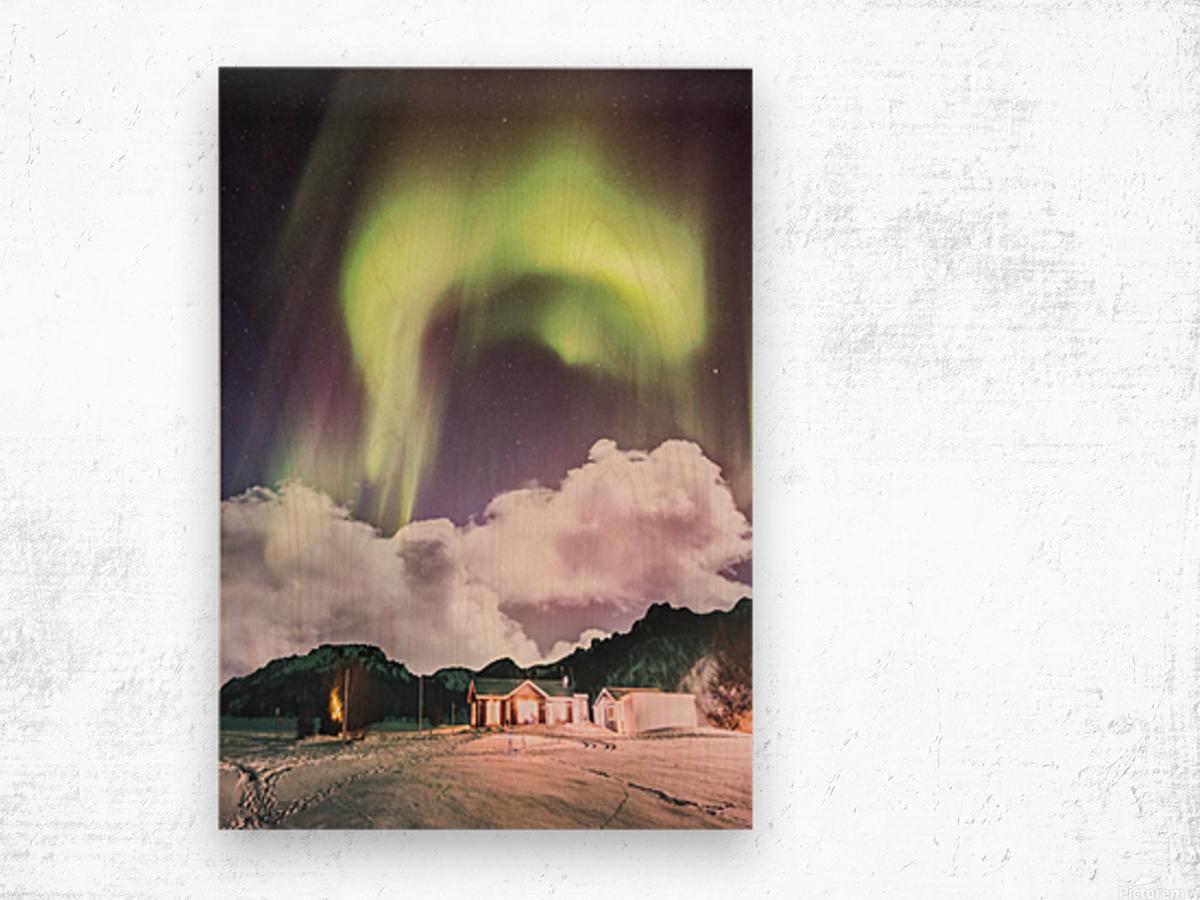 Aurora In The Winter Wood print