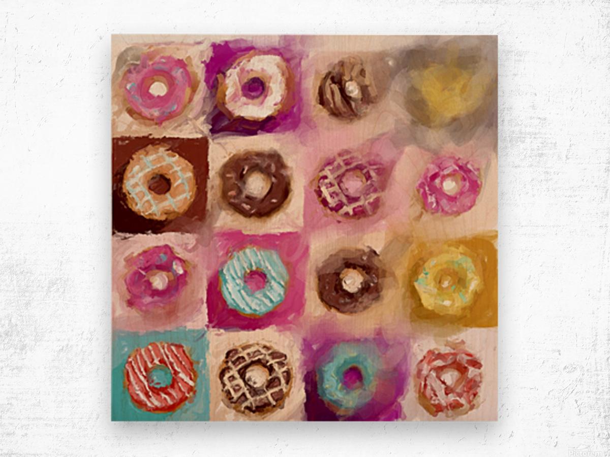 Donut Series No 1 Wood print