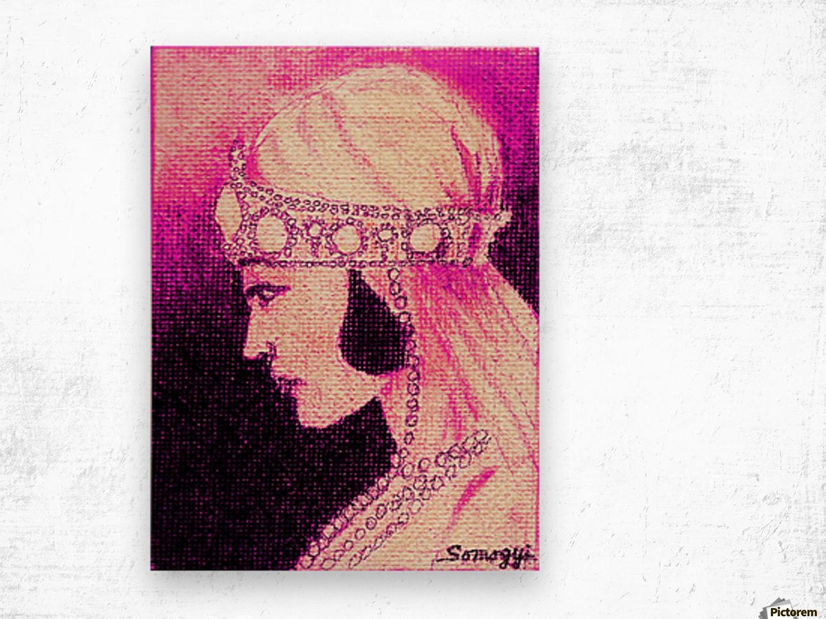 1920's Bride -- in Purple Wood print