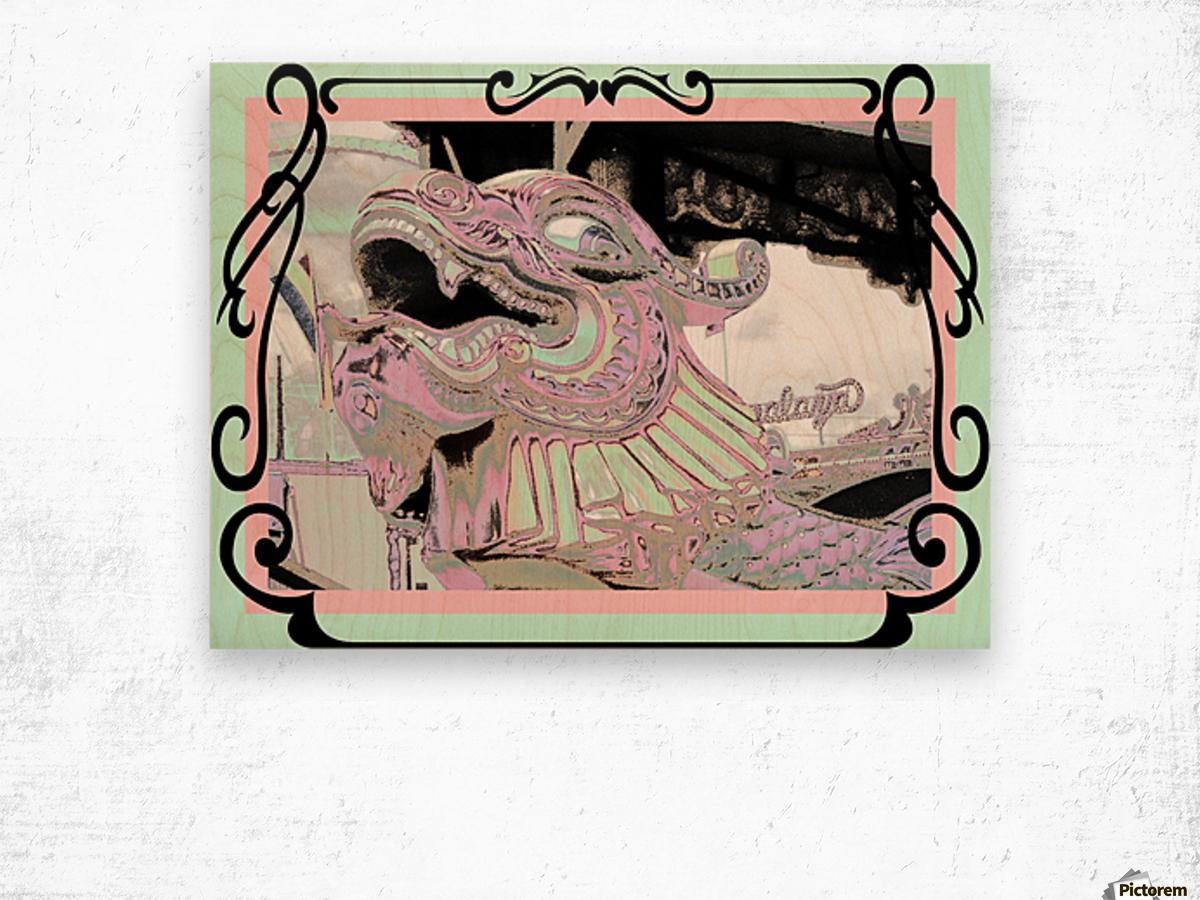 Carnival Creature in Pastels Wood print