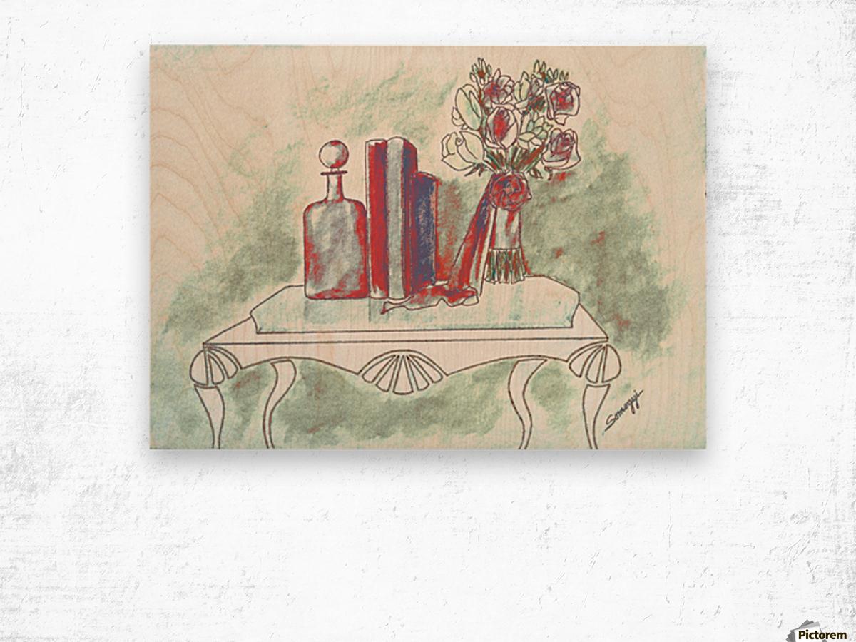 Pretty in Mint Wood print