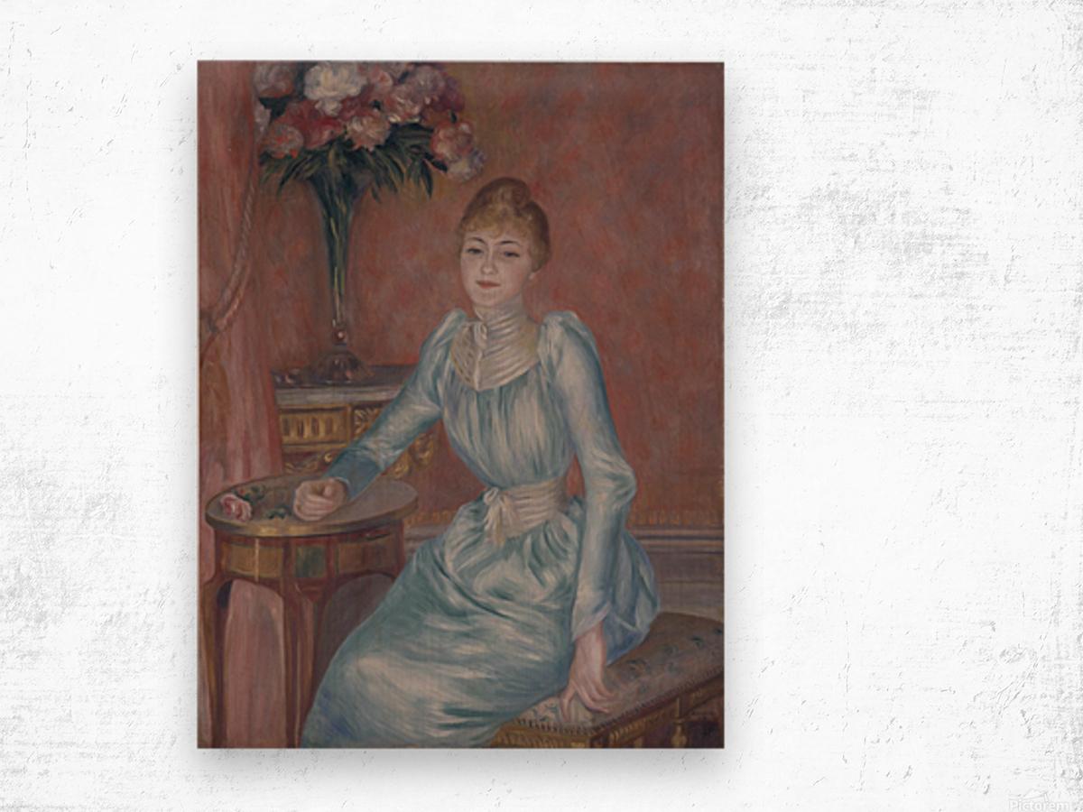Portrait of Madame de Bonnieres Wood print