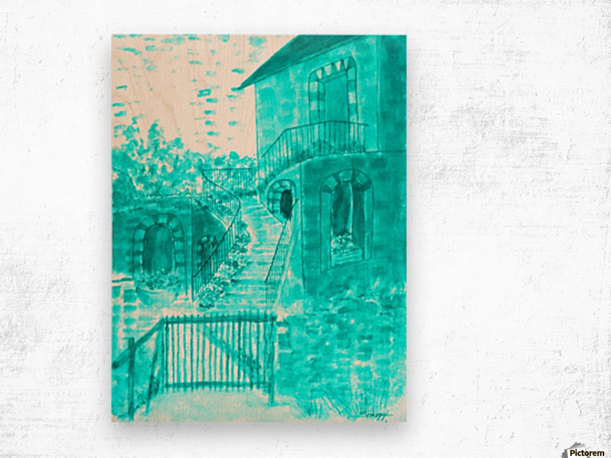 Let Them Eat Cake -- Turquoise Wood print