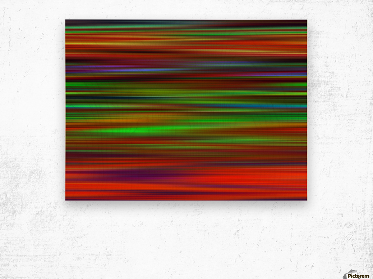 Colorful Lines Wood print