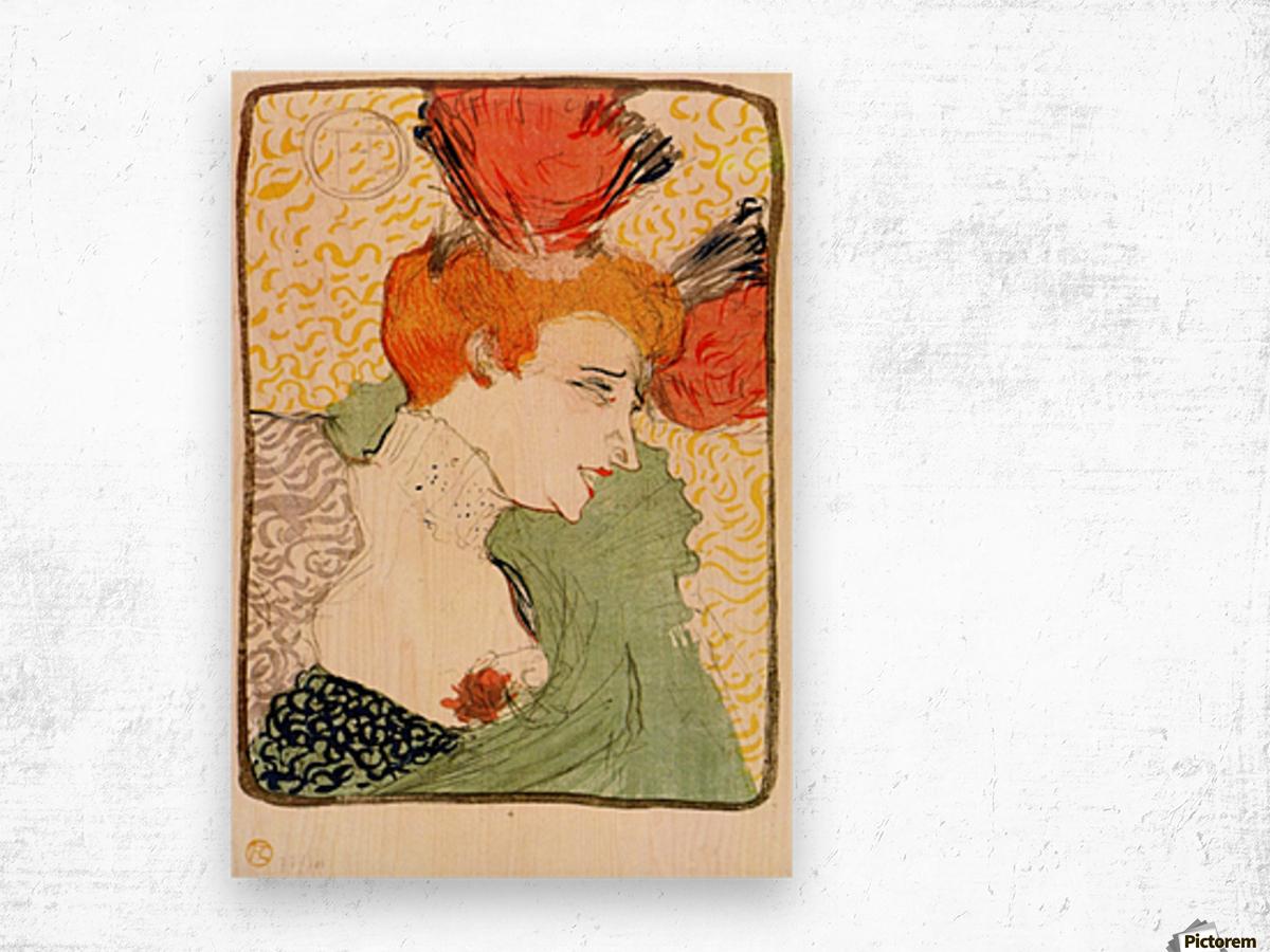 Bust portrait by Toulouse-Lautrec Wood print