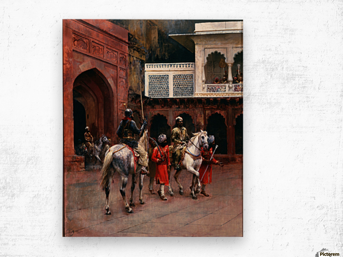 Indian Prince, Palace of Agra Wood print