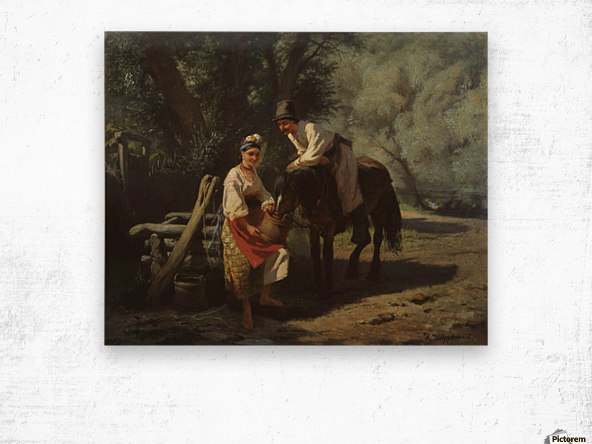 By the Well Wood print