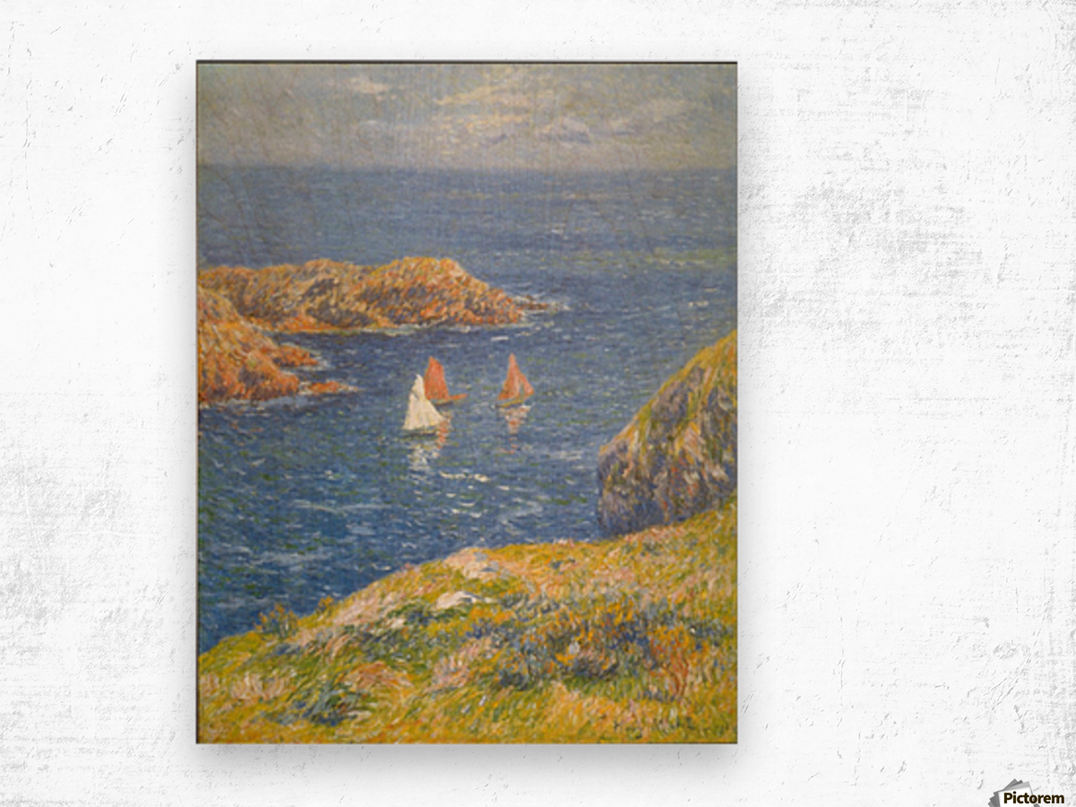 Calm Seas by Moret Wood print