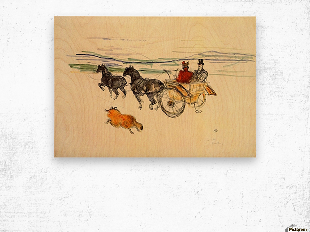 Carriage by Toulouse-Lautrec Wood print