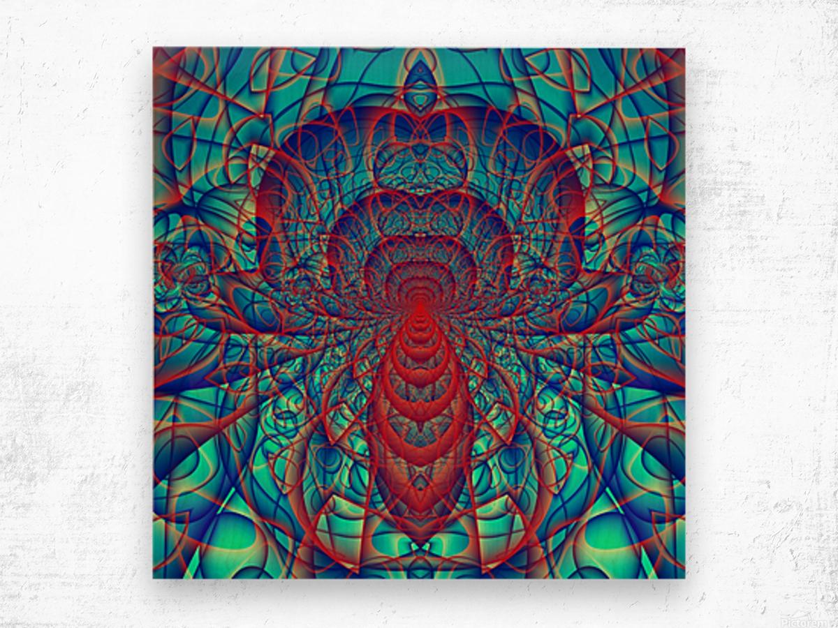Blue_Spider Wood print