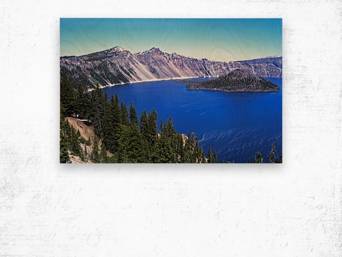 Crater Lake Oregon Wood print