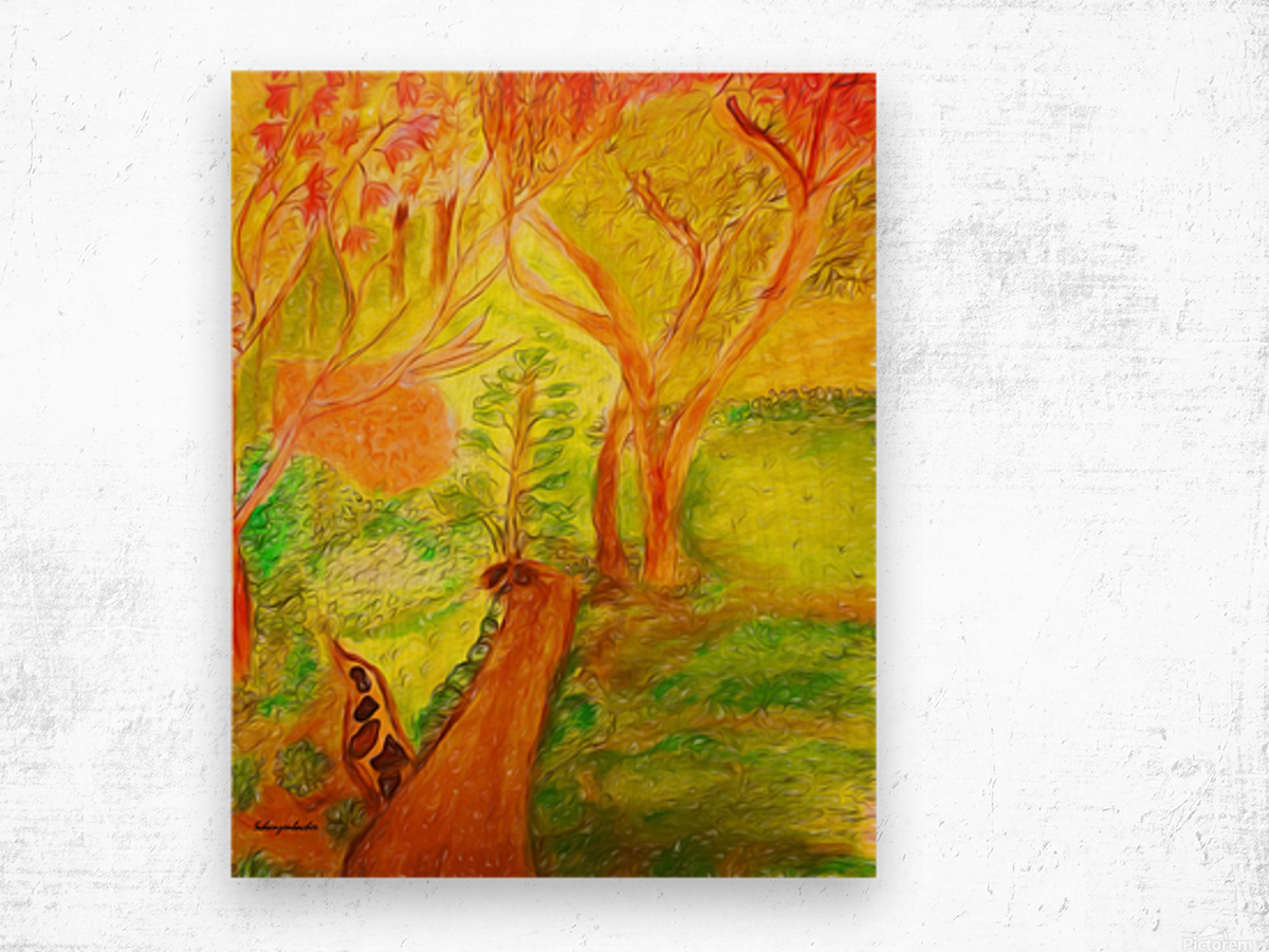 Could it be yellower  Wood print