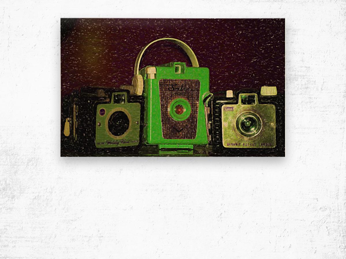 Antique Camera Wood print