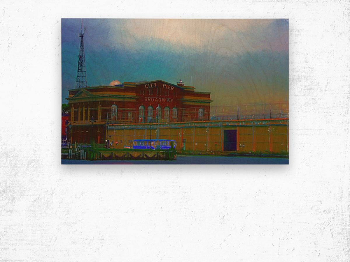 Baltimore Port Maryland  Wood print