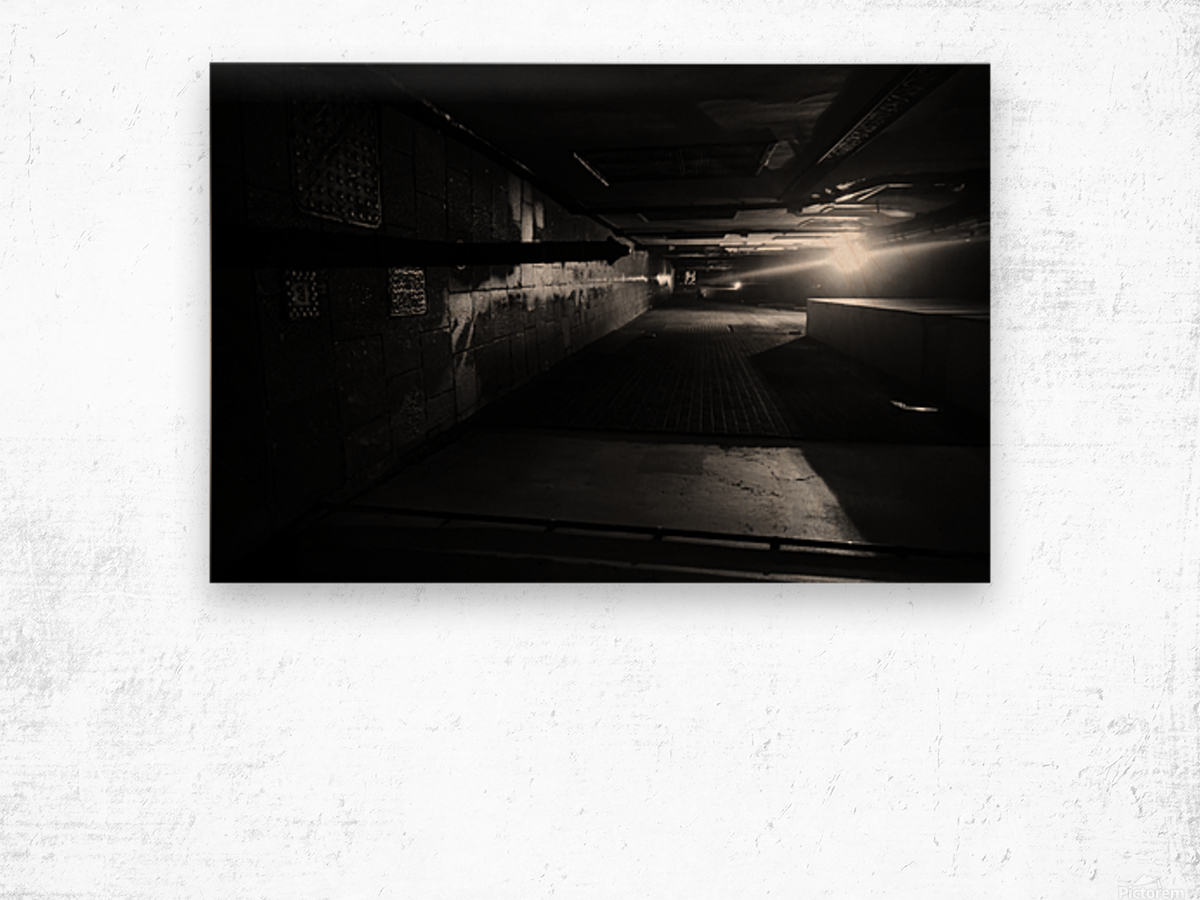 Dark alley Wood print