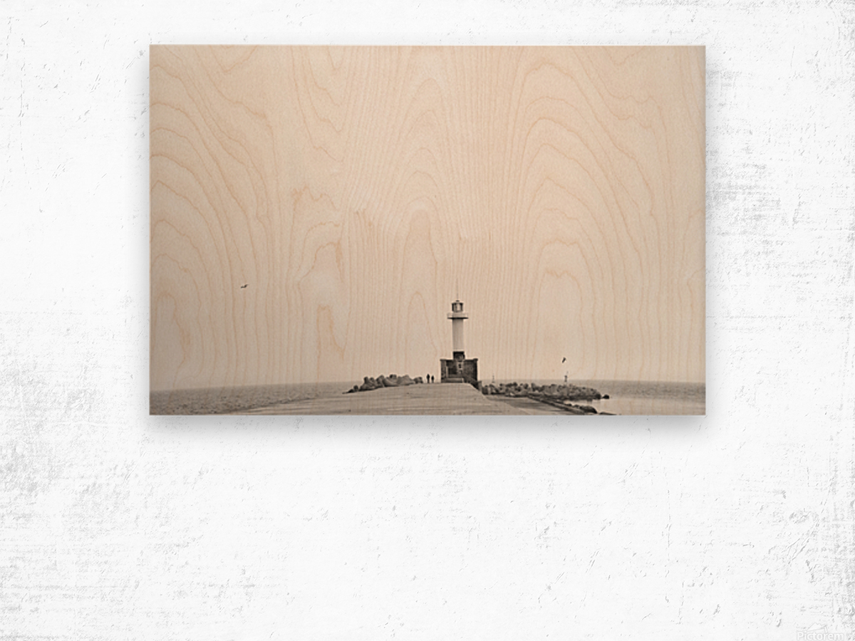 Minimalistic lighthouse Wood print