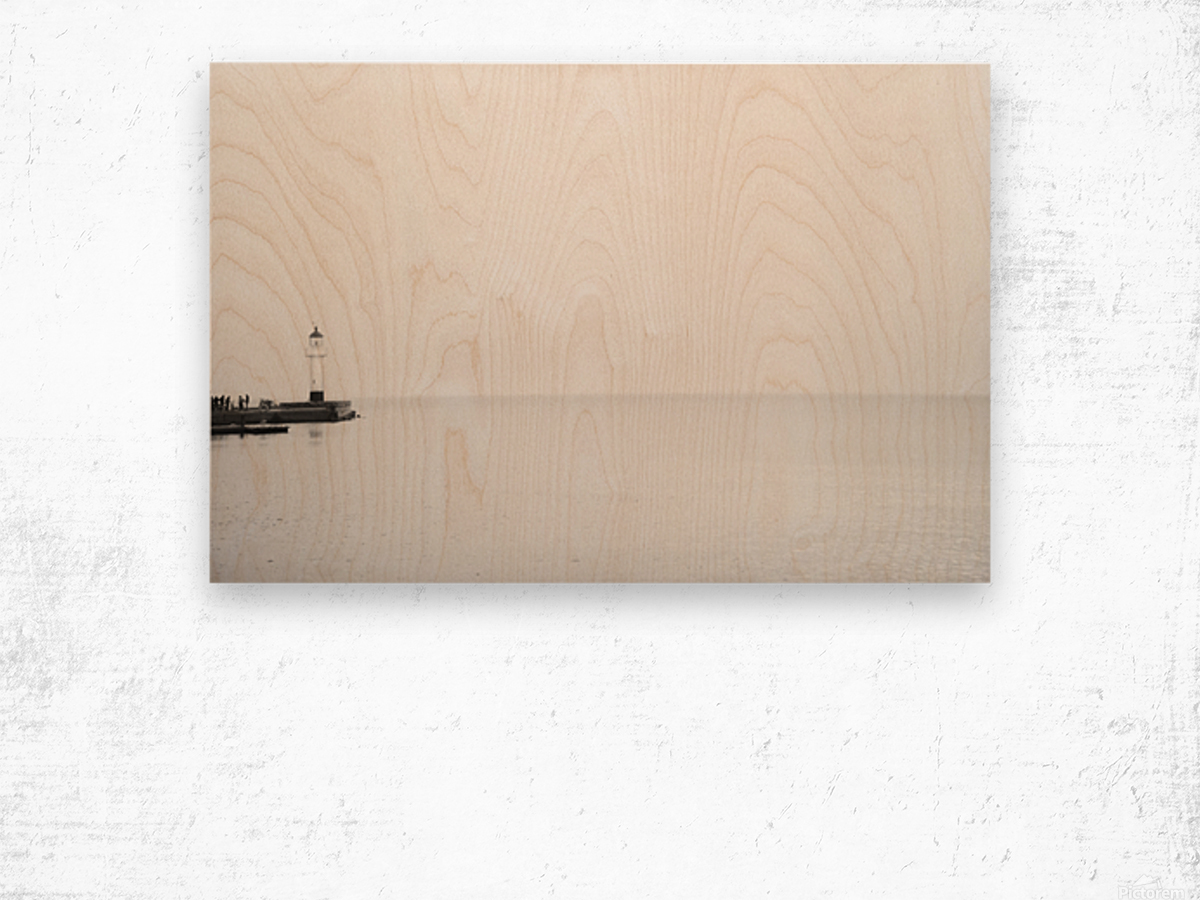 Minimalistic lighthouse 2 Wood print