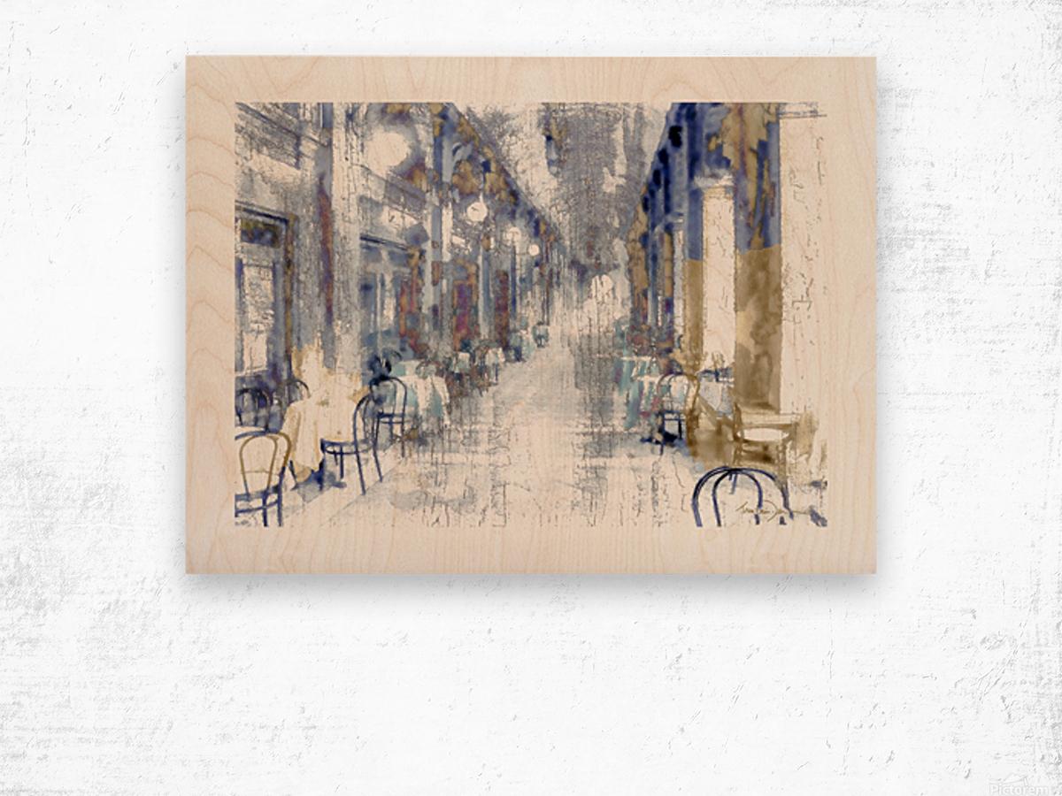 Venise cafe Wood print