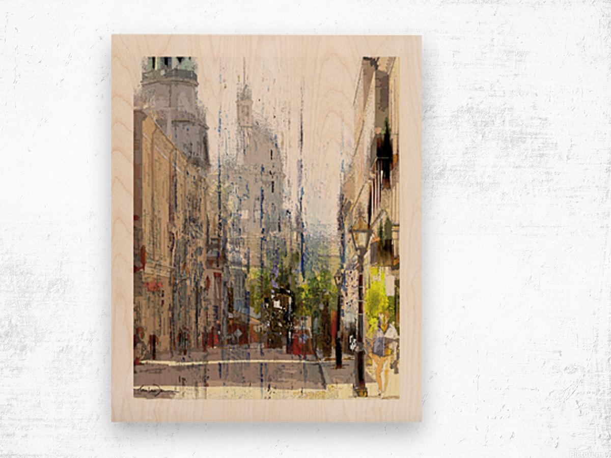 Rue st-Paul Montreal Wood print