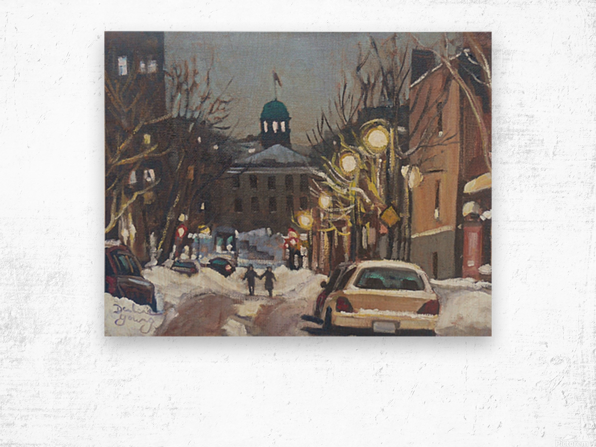 McGill Ghetto Night Scene Wood print