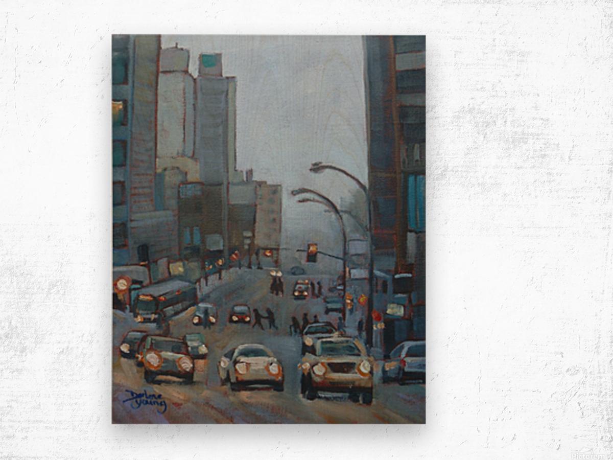 Guy Street Montreal Wood print