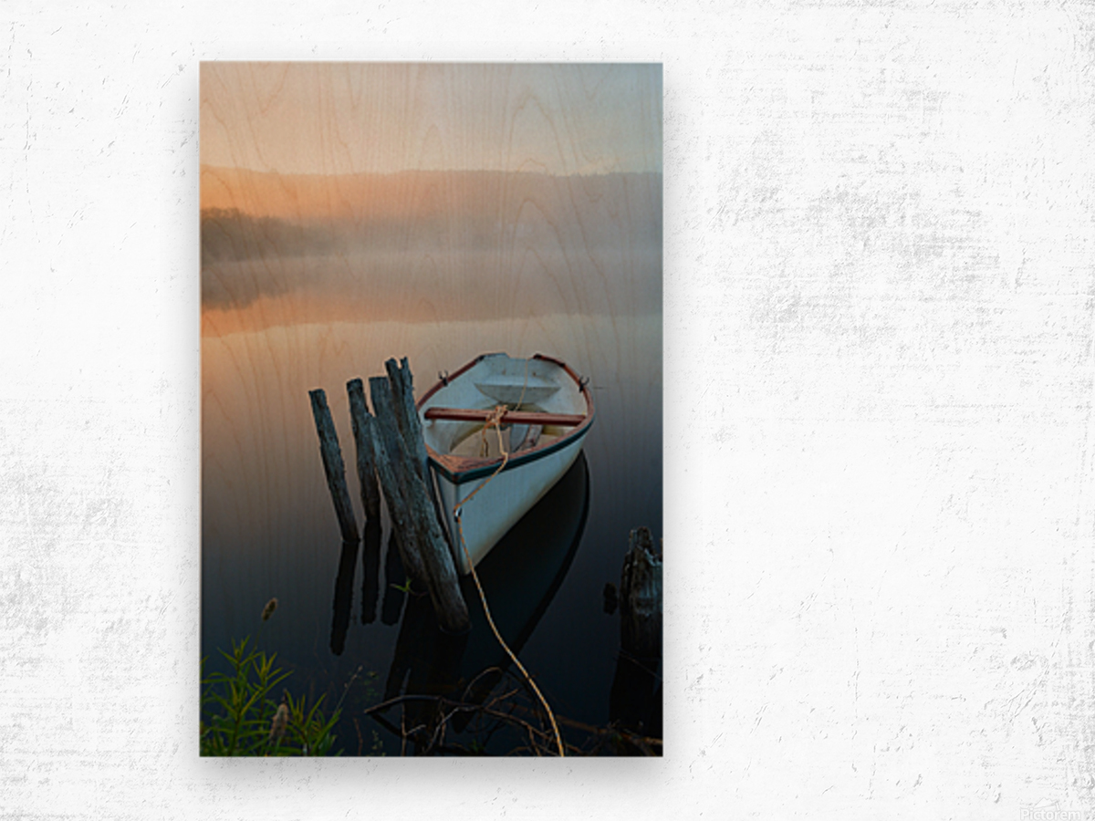 Morning Tranquility Wood print