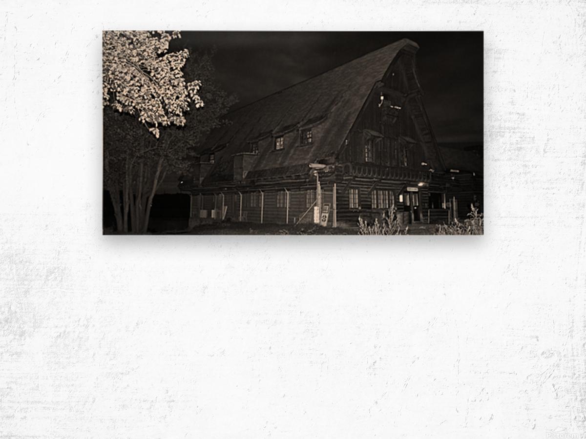 Poste daccueil Wood print