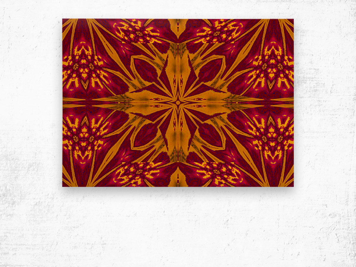 Wildflower of Gold and Red Wood print