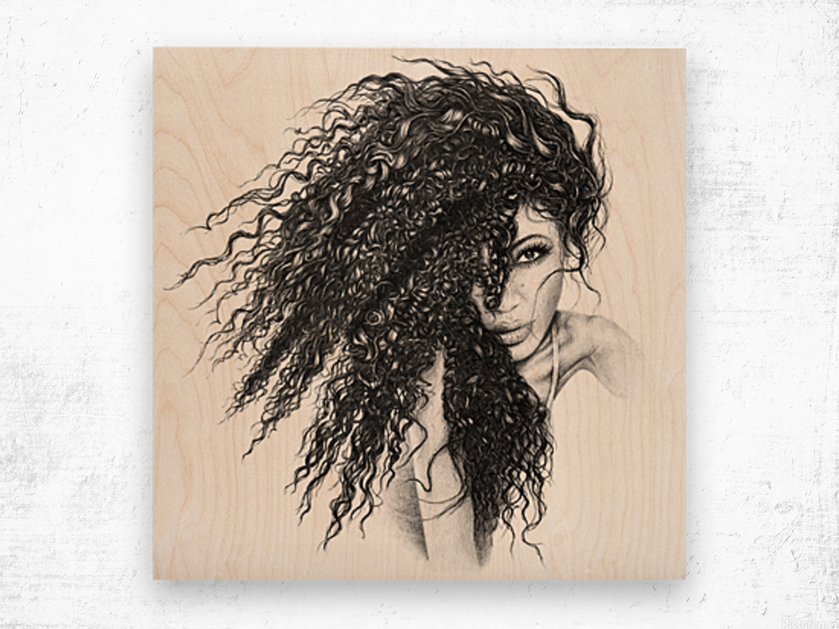 The Muse Wood print