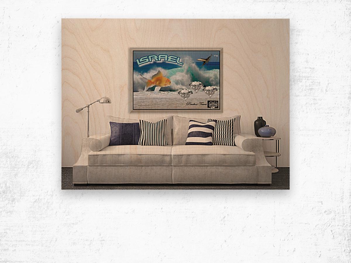 monogram art   israel ocean 1 FOR DSPLAY ONLY in room setting Wood print
