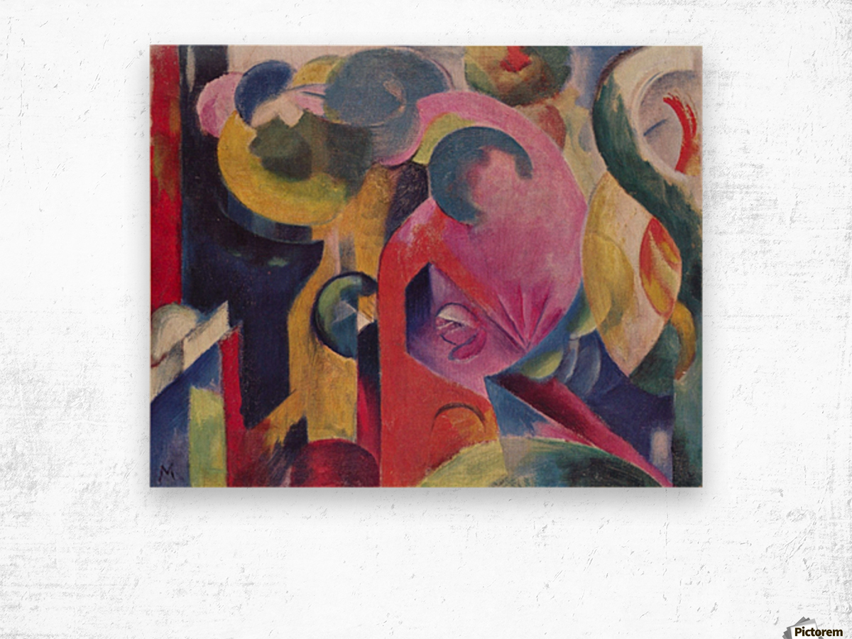 Composition III by Franz Marc Wood print