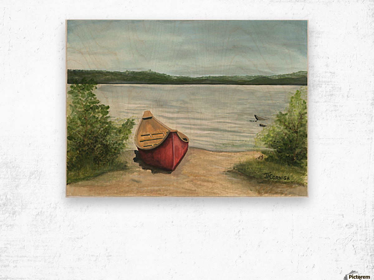 Beauty Lake Wood print