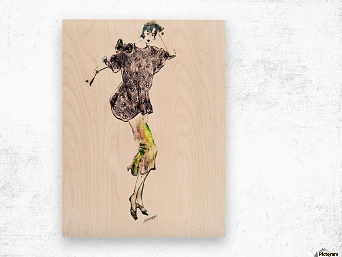 1980's Fashion Wood print
