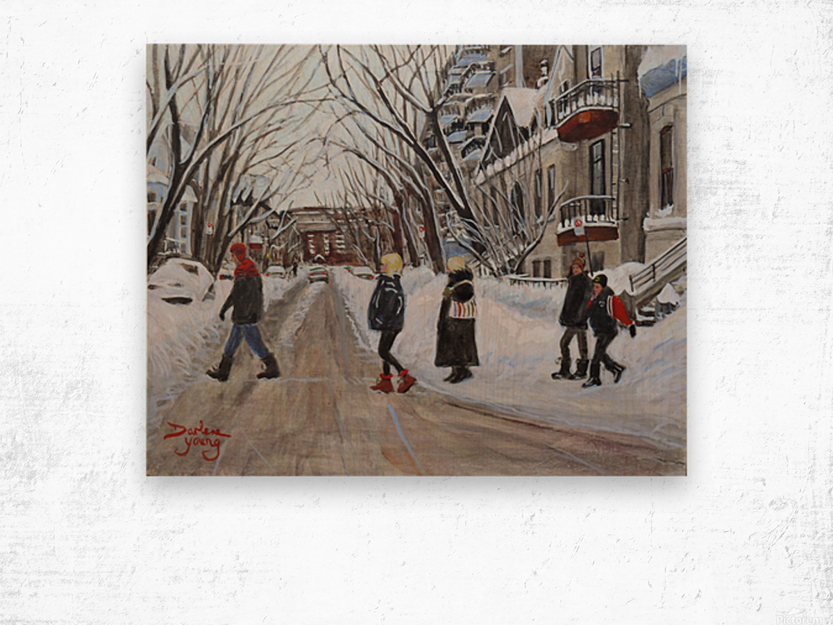 Milton Street McGill Ghetto Scene Wood print
