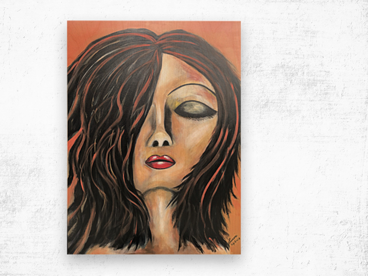 La Femme Zen Wood print