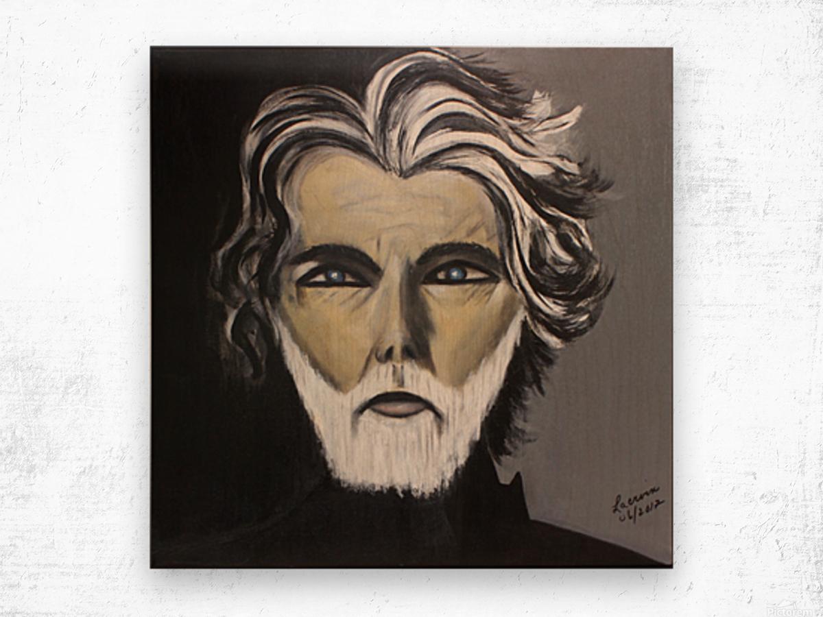 My Friend with the White Beard Wood print