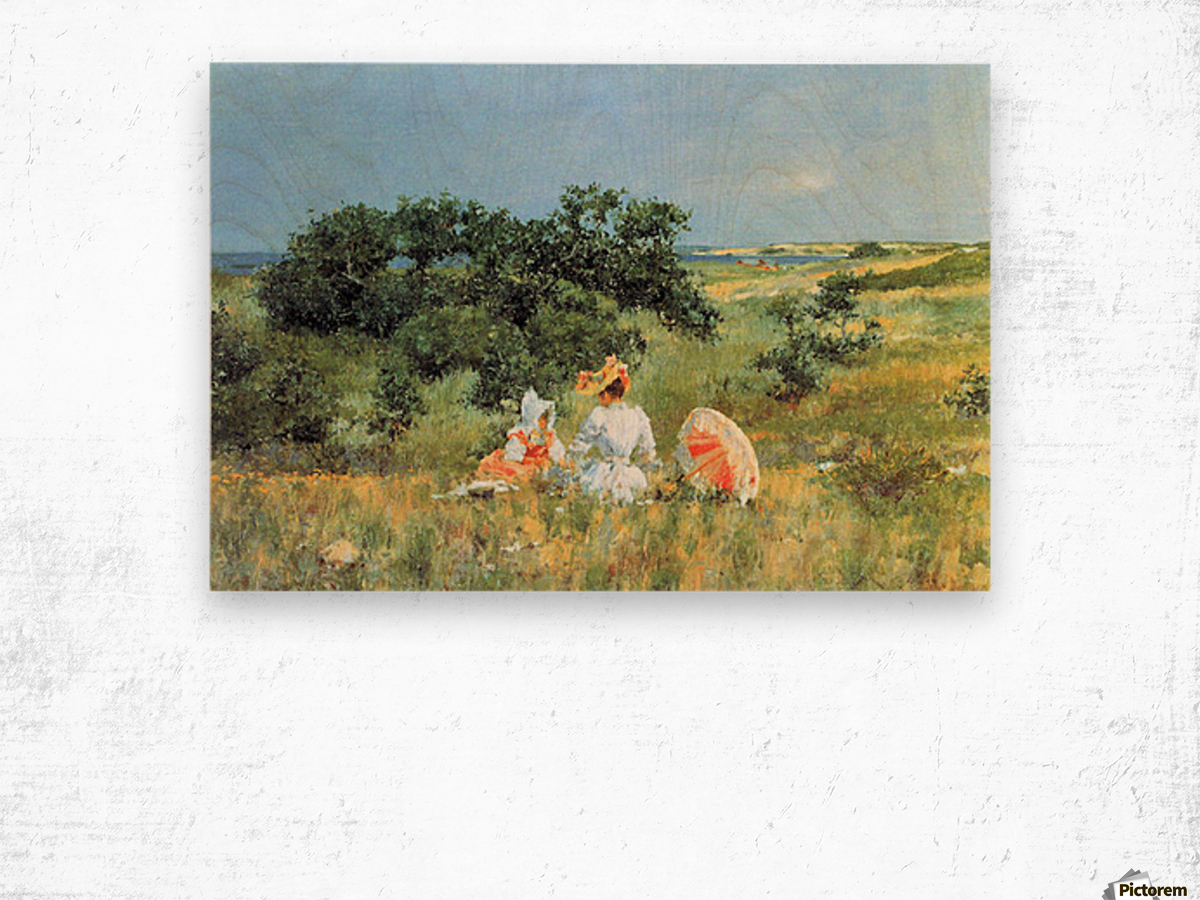 The Tale by William Merritt Chase Wood print