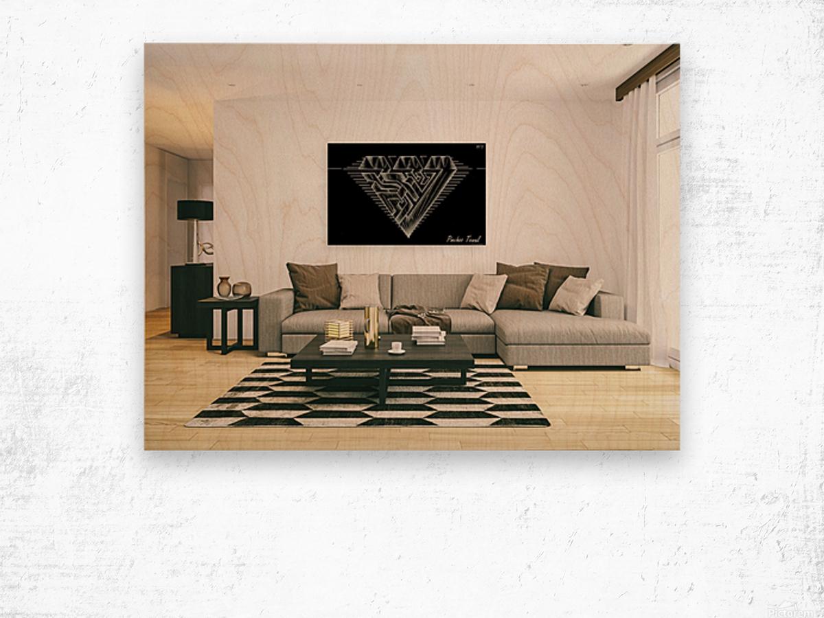 monogram diamond aaa  FOR DISPLAY ONLY  room1 Wood print