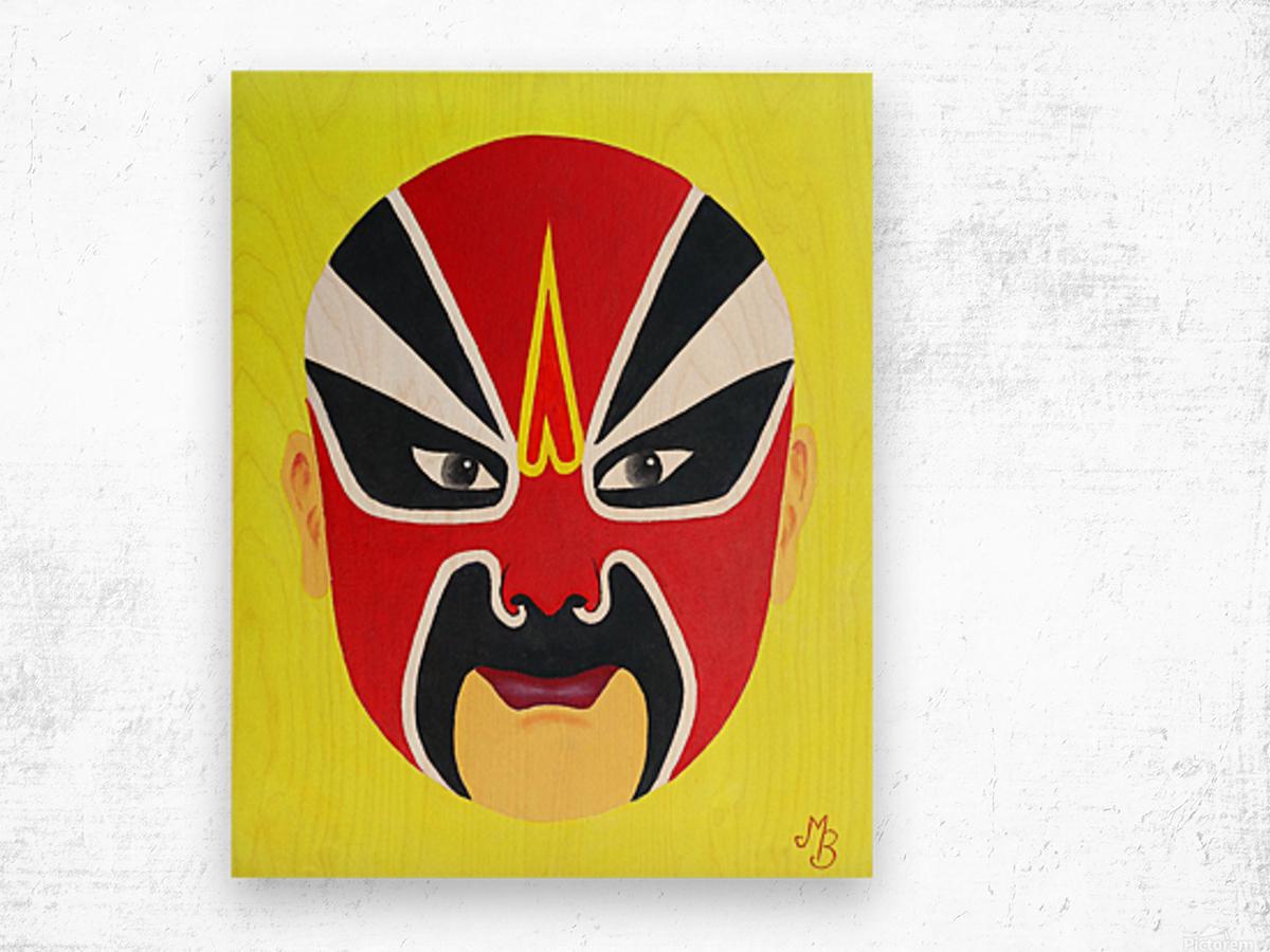 Zhuan Zhu - Chinese Opera Mask Wood print