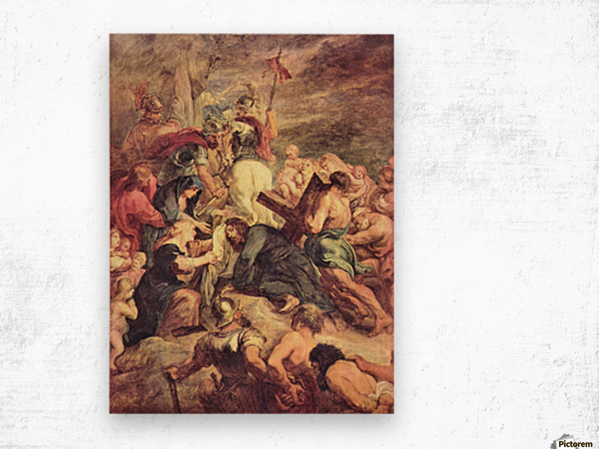 Crucifixion of Christ by Rubens Wood print