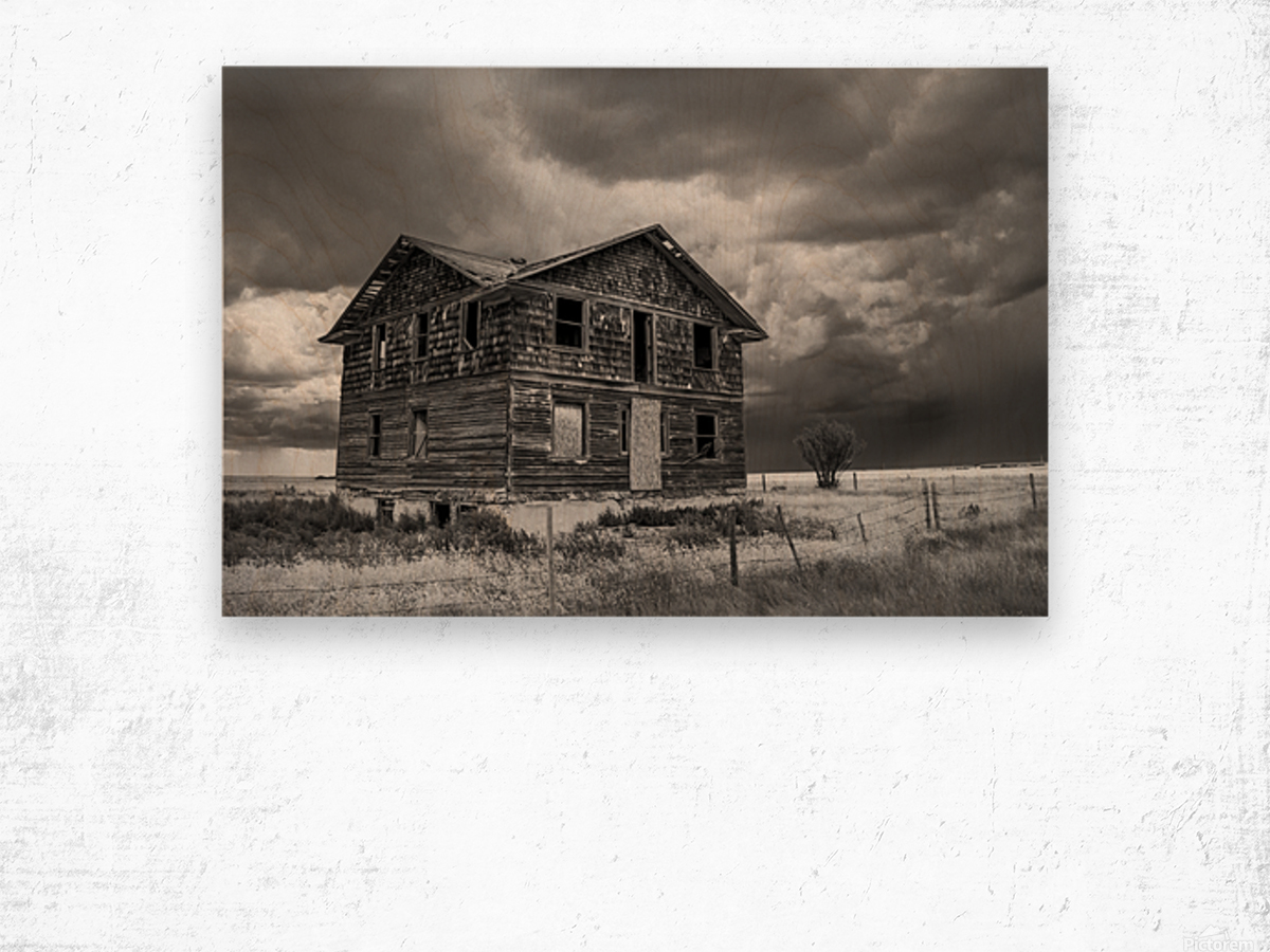 Calm Before The Storm - Red Coat Trail Wood print