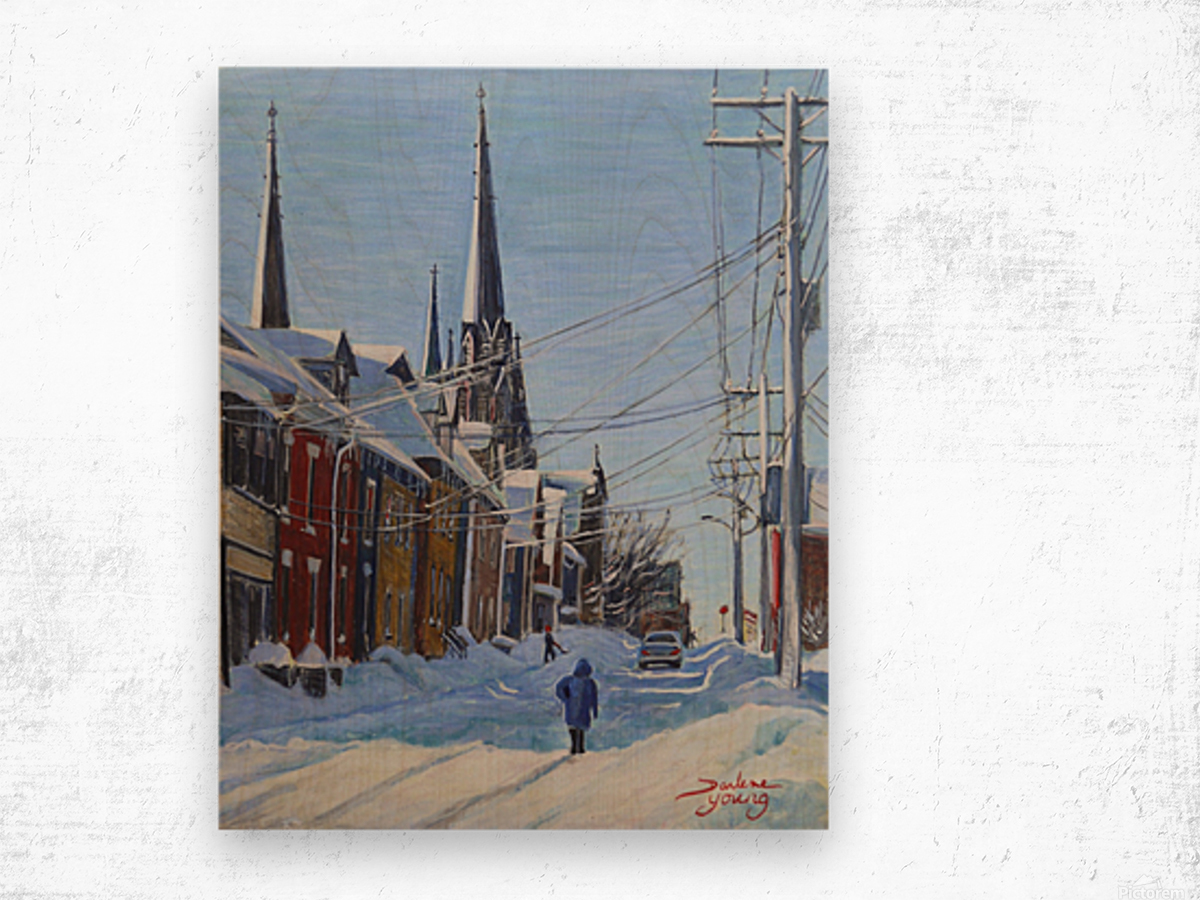 Charlottetown Winter Scene Wood print