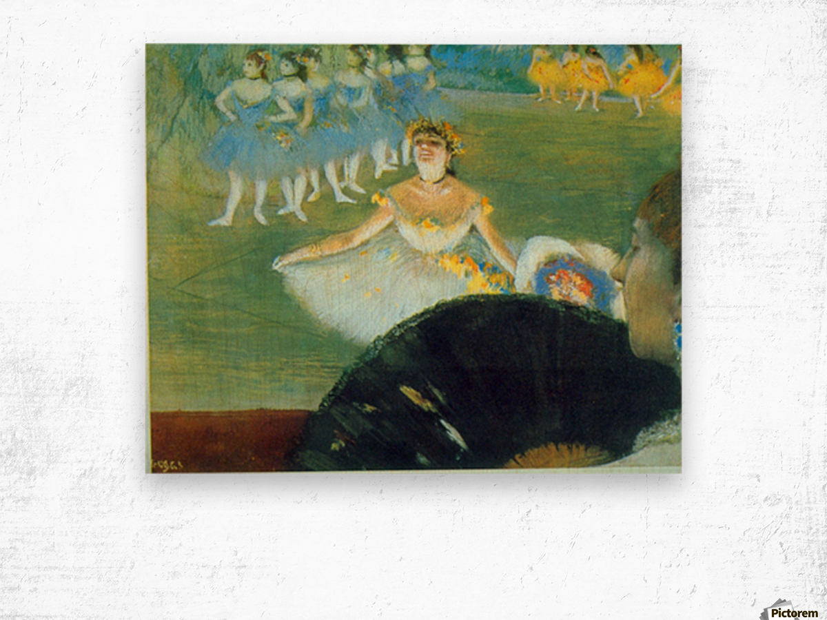 Dance with Bouquet by Degas Wood print