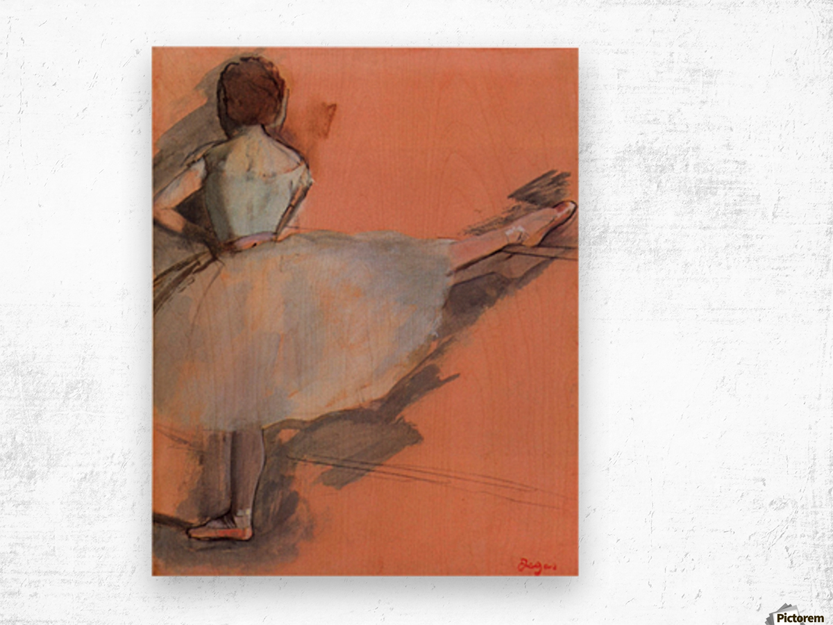 Dancer at the bar 1 by Degas Wood print