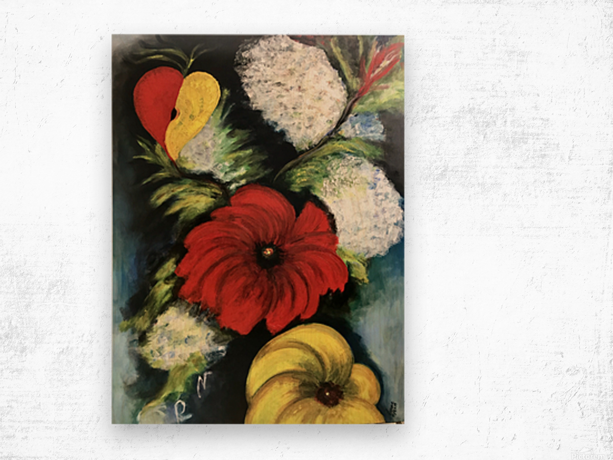 Des Fleurs pour Nathalie Wood print