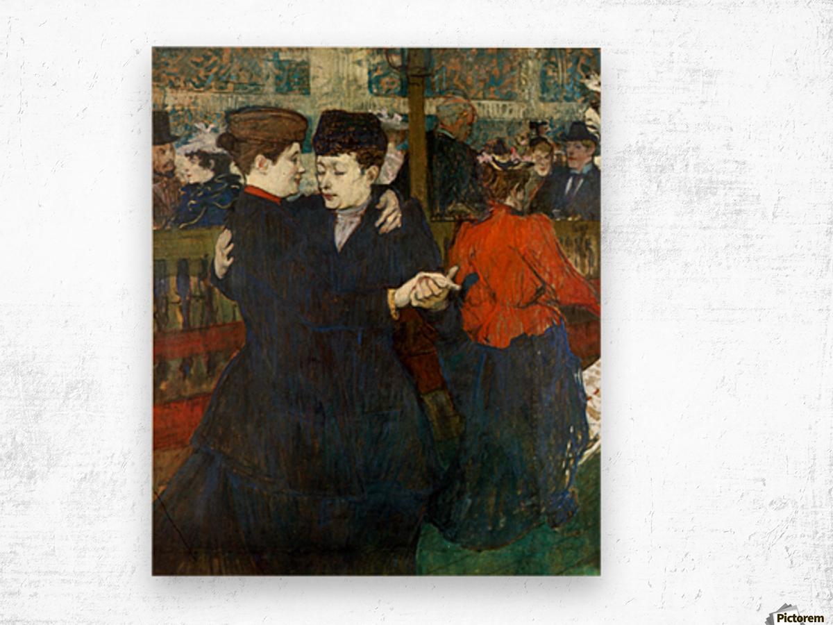 Dancing a Valse by Toulouse-Lautrec Wood print