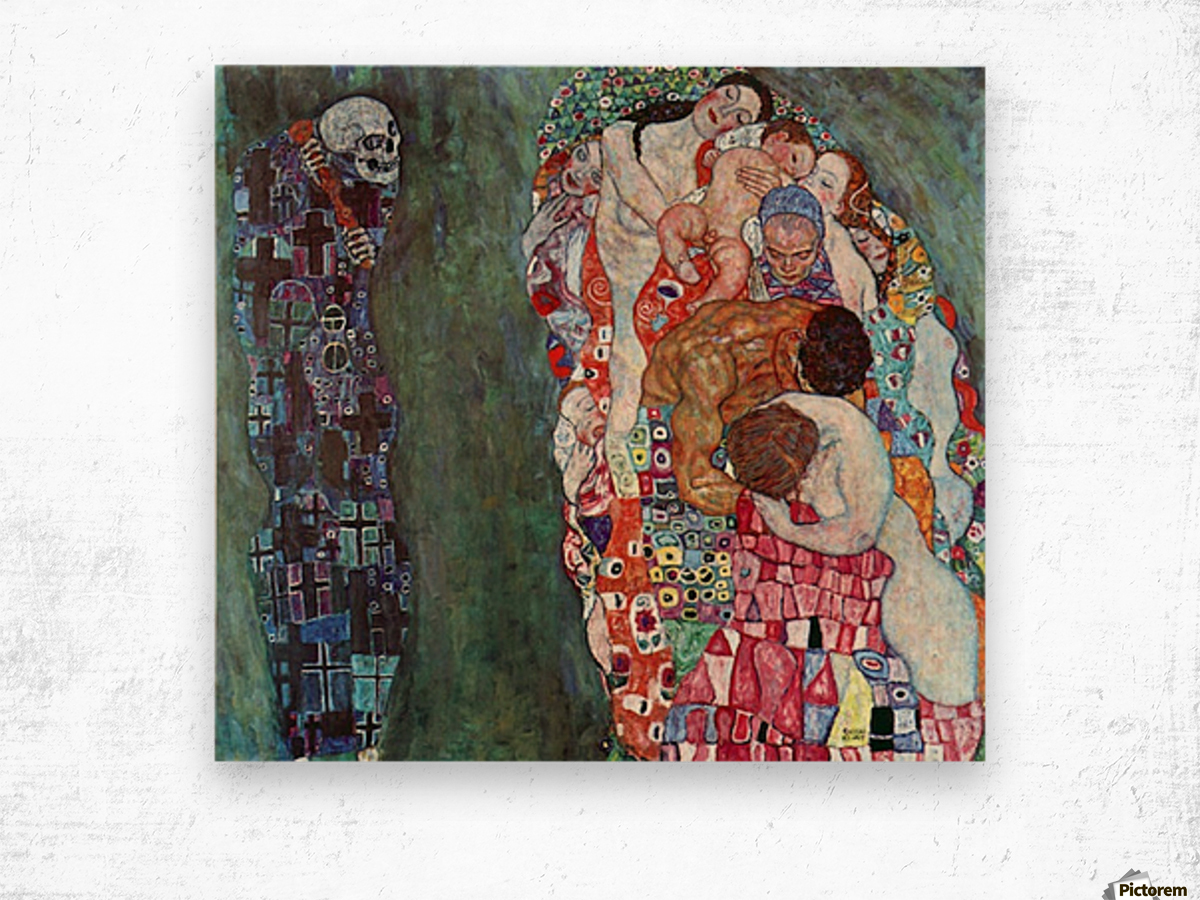 Death and Life by Klimt Wood print