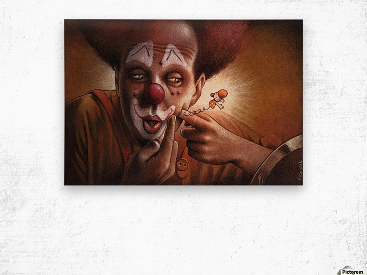 clown Wood print