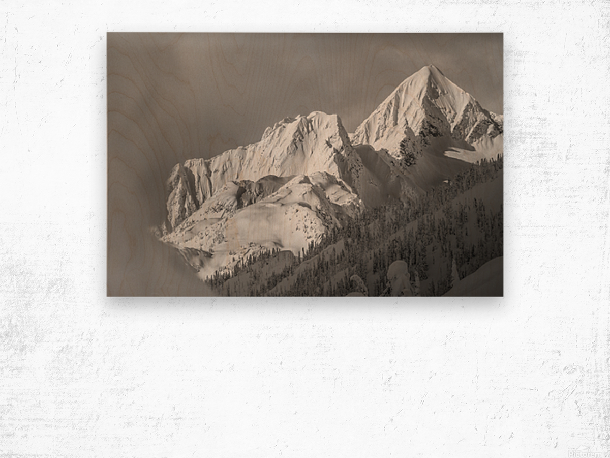 whitewater mountain 1 of 1 Wood print