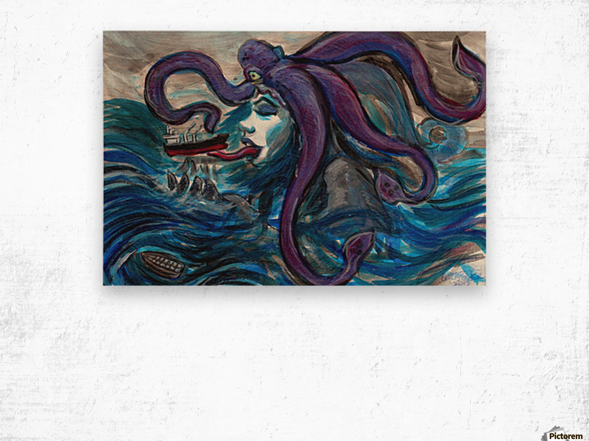 Sea Monster, 1 Wood print